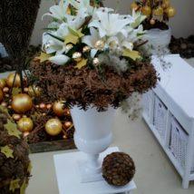 Kytice lilie+šišky